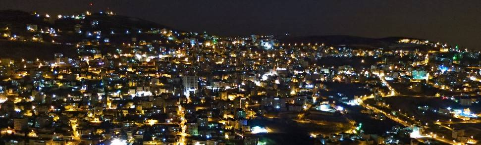 Nablus at night