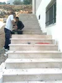 Yatma clinic steps being constructed